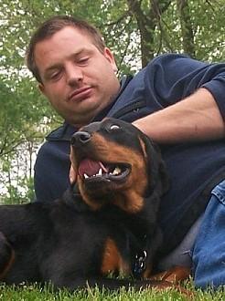 Joseph M Rowe: Joseph and his beloved dog, Nemo
